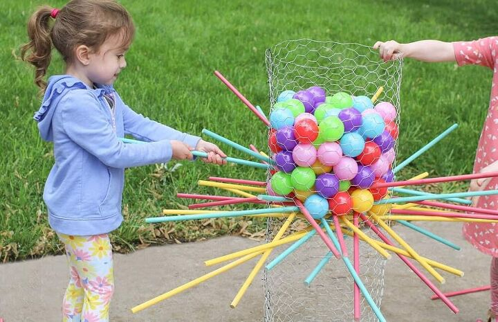 how to make a diy life size kerplunk yard game
