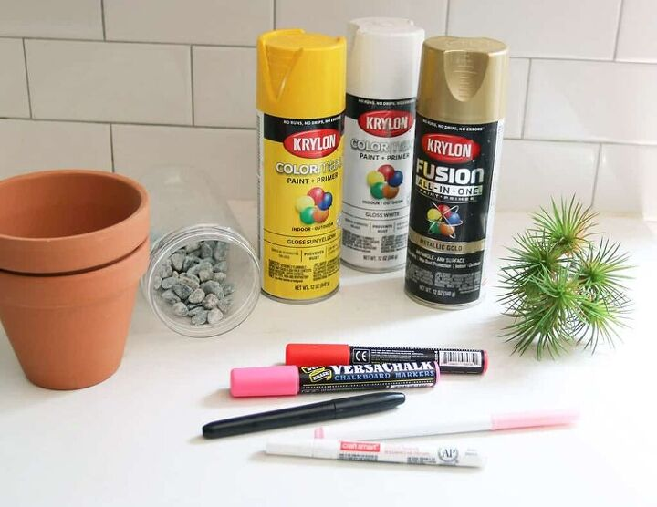 how to make diy summery planter pots