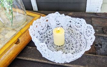 Lace Doily Candle Bowls
