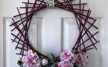 Newspaper Tubes Geometric Design Wreath