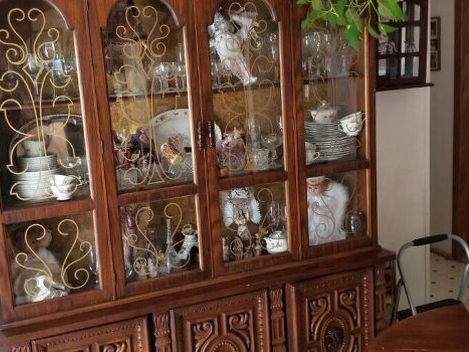 q how could i update this 80 s china cabinet