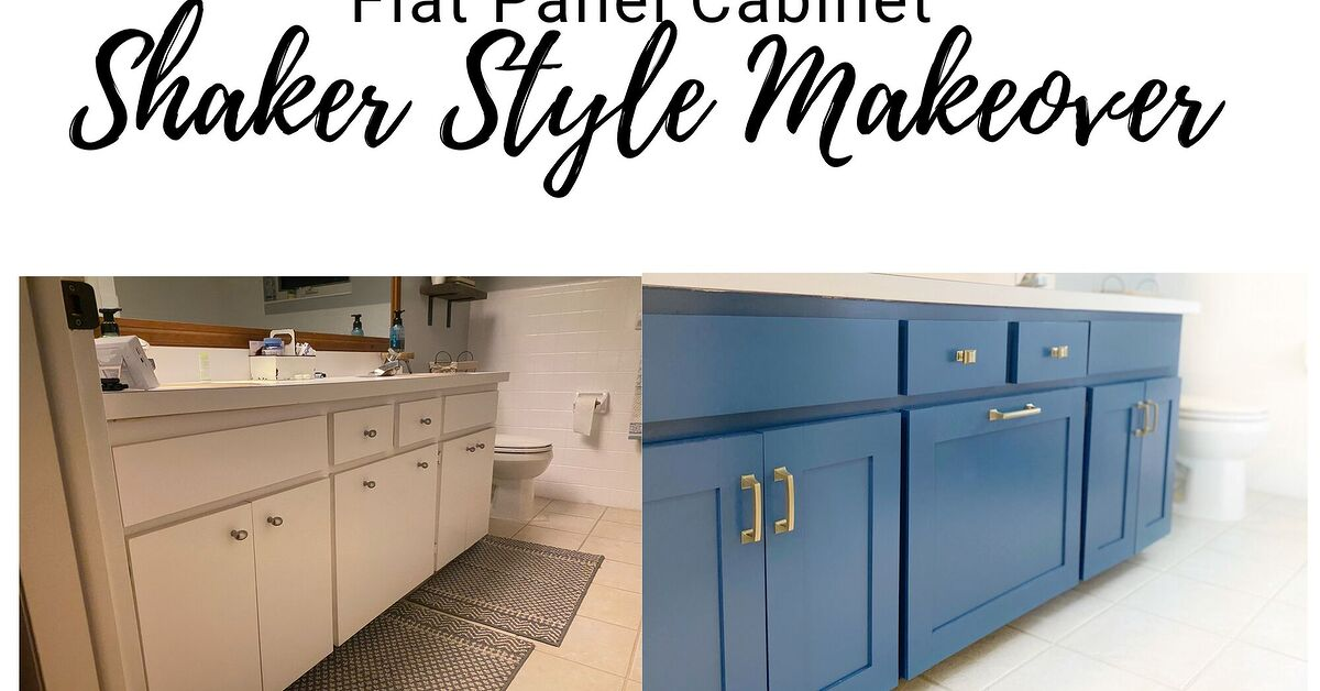 Adding Shaker Trim To Flat Panel, How To Add Moulding Cabinet Doors
