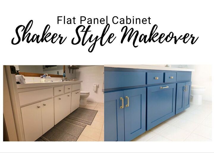 adding shaker trim to flat panel cabinets