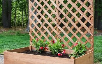 Raised Garden Planter With Trellis