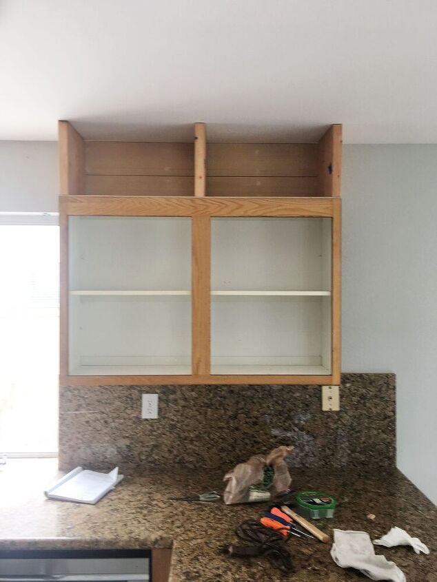 how to extend kitchen cabinets to the ceiling