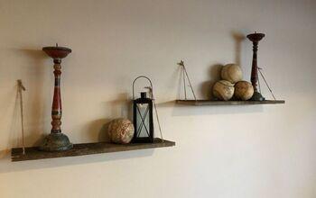 Barnwood and Twine Shelves