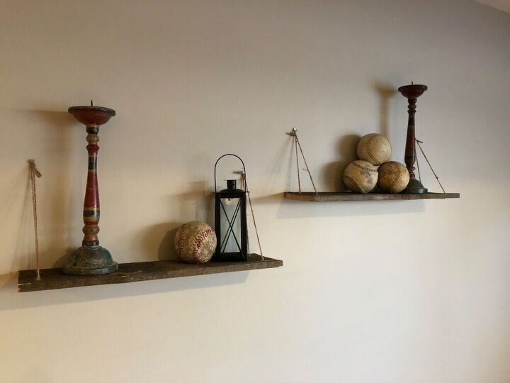 barnwood and twine shelves