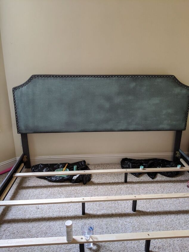 painting an upholstered bed