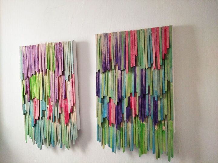 coffee stirrer wall art