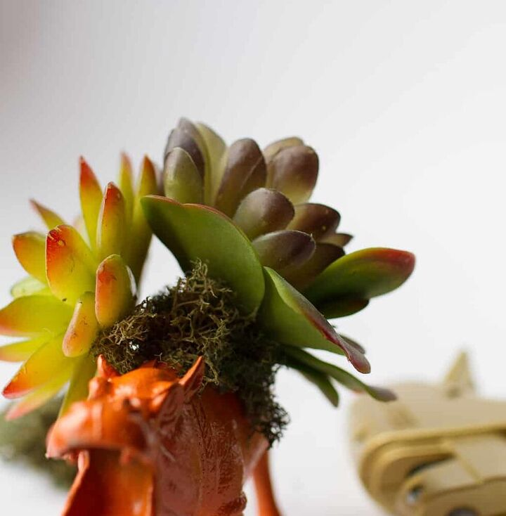 how to make a unique toy animal succulent planter