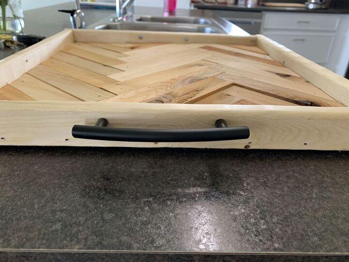 herringbone serving tray