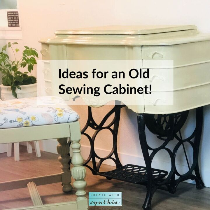 ideas for an old sewing cabinet