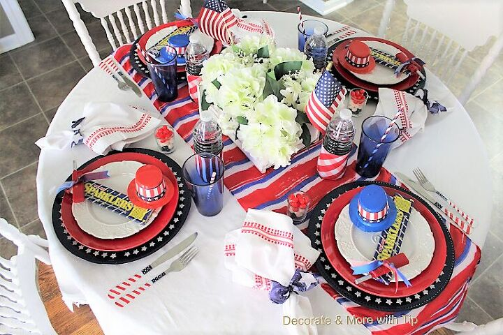 independence day tablescape