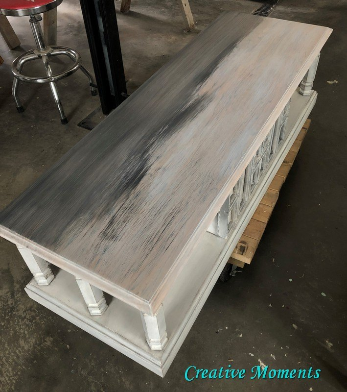 beach vibe updated for this vintage coffee table