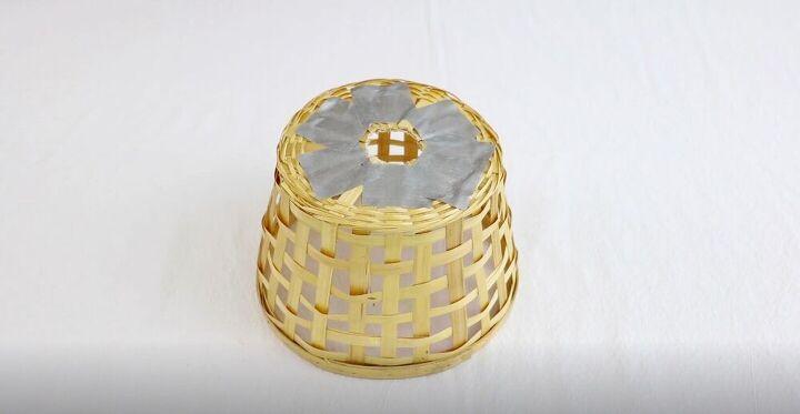 DIY Farmhouse Basket Pendant Light