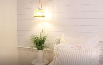 Create Your Own Farmhouse Pendant Light From a Simple Basket