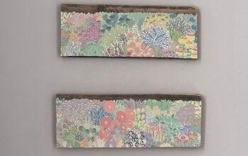 DIY (Cheap!) Wall Art From Pallets & Designer Wallpaper
