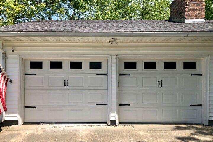 quick easy cheap garage door update
