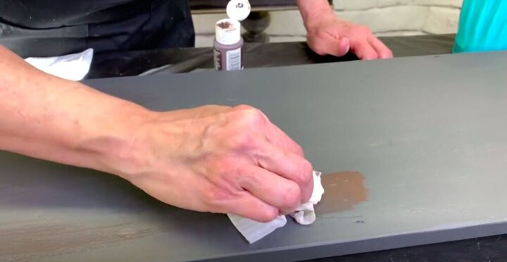 Rub on Brown Paint