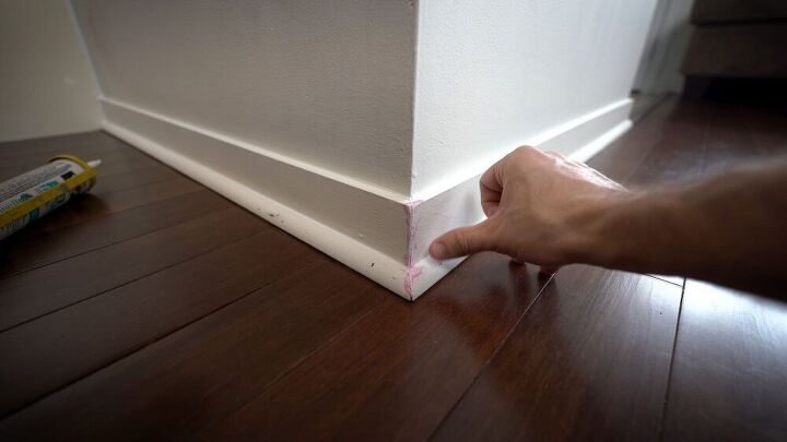 cheap fix for small cracks in your baseboard and trim
