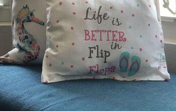 No Sew Dollar Tree Pillow