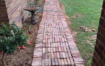 Brick Sidewalk & Flowerbed