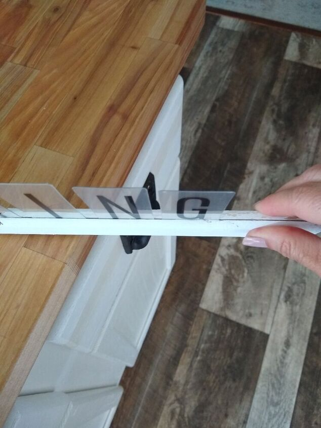 diy wall letter board