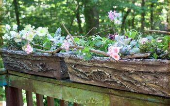 Realistic Bark Texture With Caulk and a Fork! Easy Flower Box Makeover