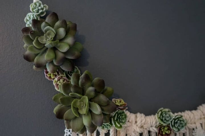 diy succulent dream catcher