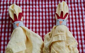 Chicken Head Napkin Rings