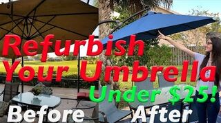 How To Paint An Outdoor Patio Umbrella