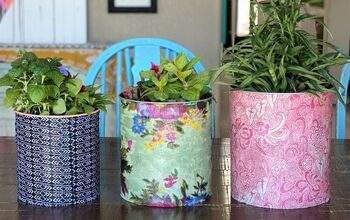Easy Fabric Planter Bins