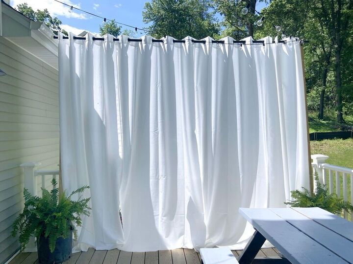 floating outdoor curtains