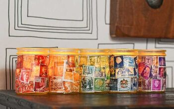 Postage Stamp Jar Tealights