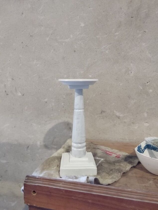 chair leg candle holder