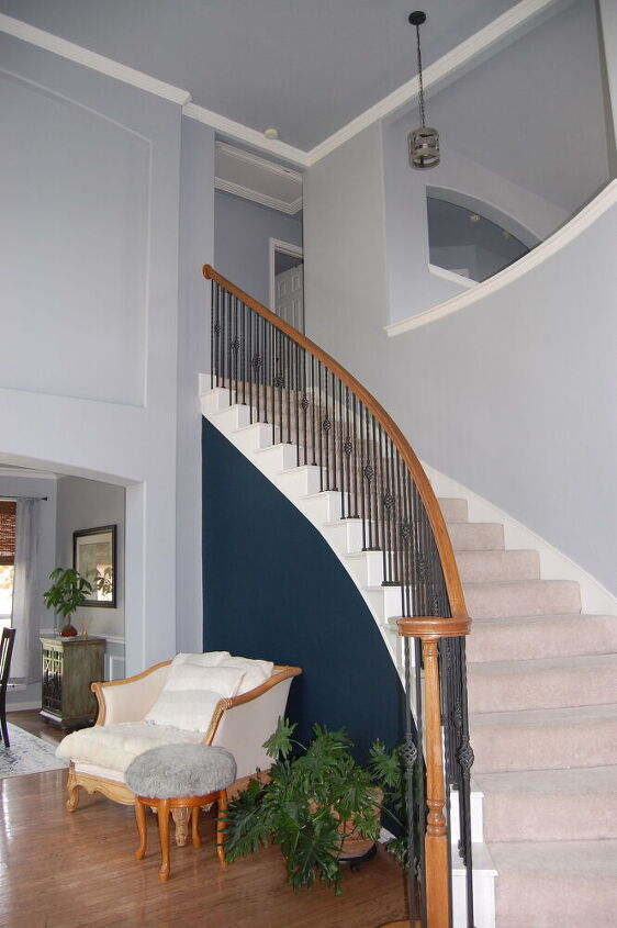 spiral staircase makeover