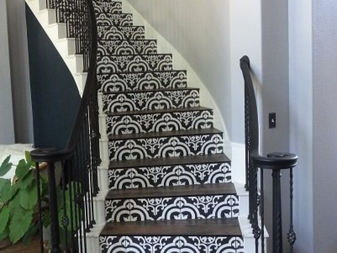 spiral staircase makeover