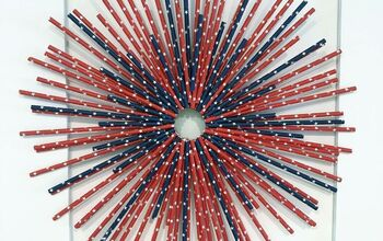 Red, White & Blue Paper Straw Wreath