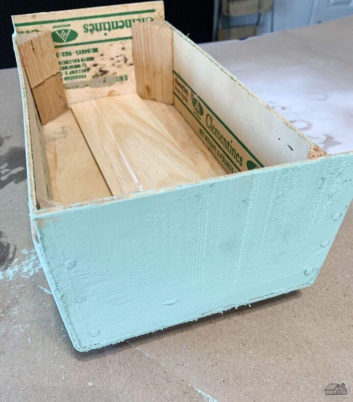 repurposed clementine box diy craft