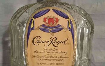 Repurposed Crown Royal Bottle
