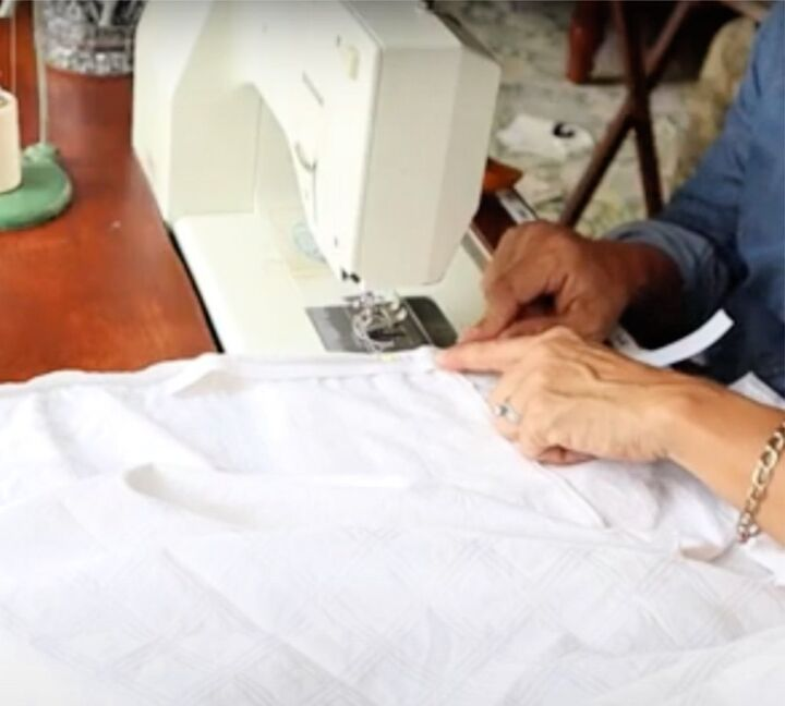 how to make a fitted sheet out of a flat sheet
