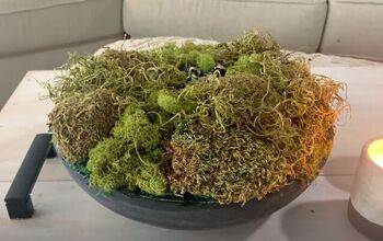 Put Together a Faux Cement Moss Bowl Centerpiece for Your Living Room
