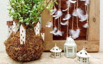 Moss Ball Garden Fairy Village