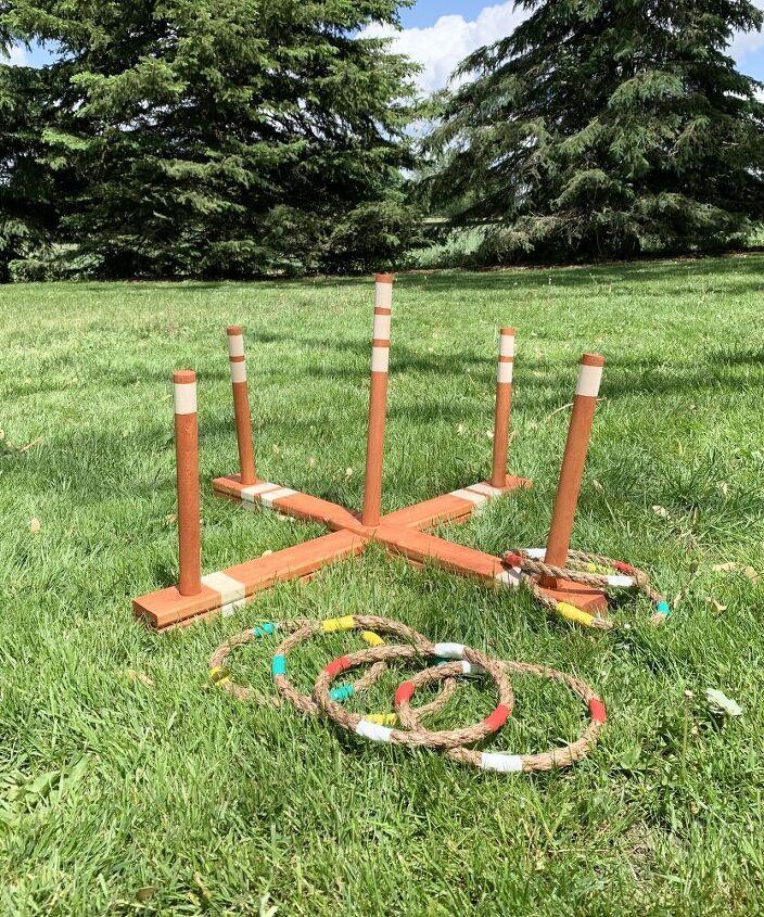 outdoor wooden ring toss