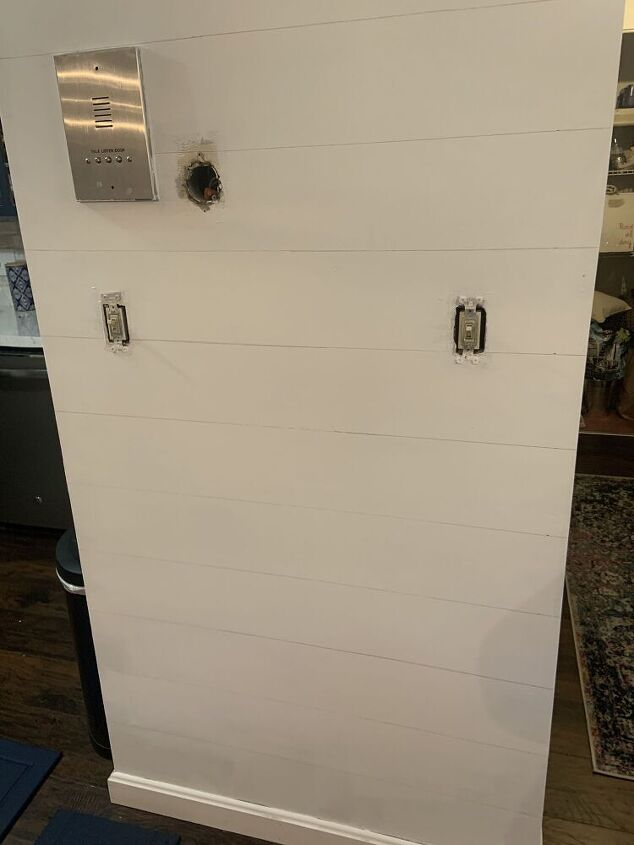 how to transform your plain wall to shiplap for 1