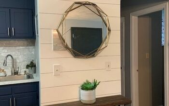 How to Transform Your Plain Wall to Shiplap for $1!