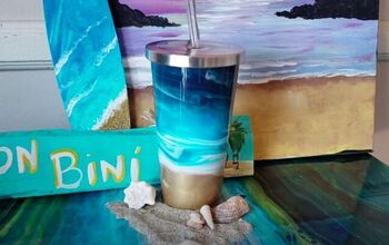 Learn How to Create a Calming Ocean Design on a Tumbler With Resin