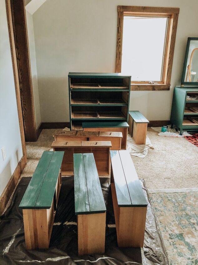 refinished mid century dresser