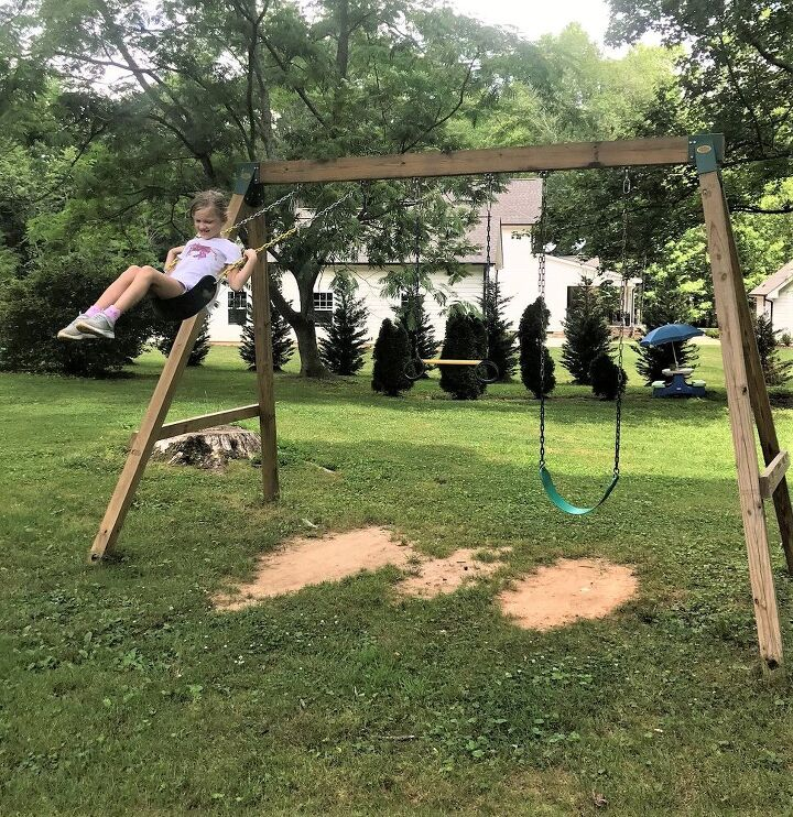 easy diy wooden swing set