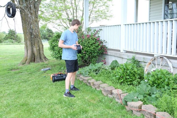 how to level edging stones front yard refresh